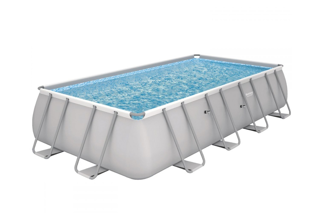 Piscine hors sol rectangulaire Power Steel Grise (671x366x132 cms)